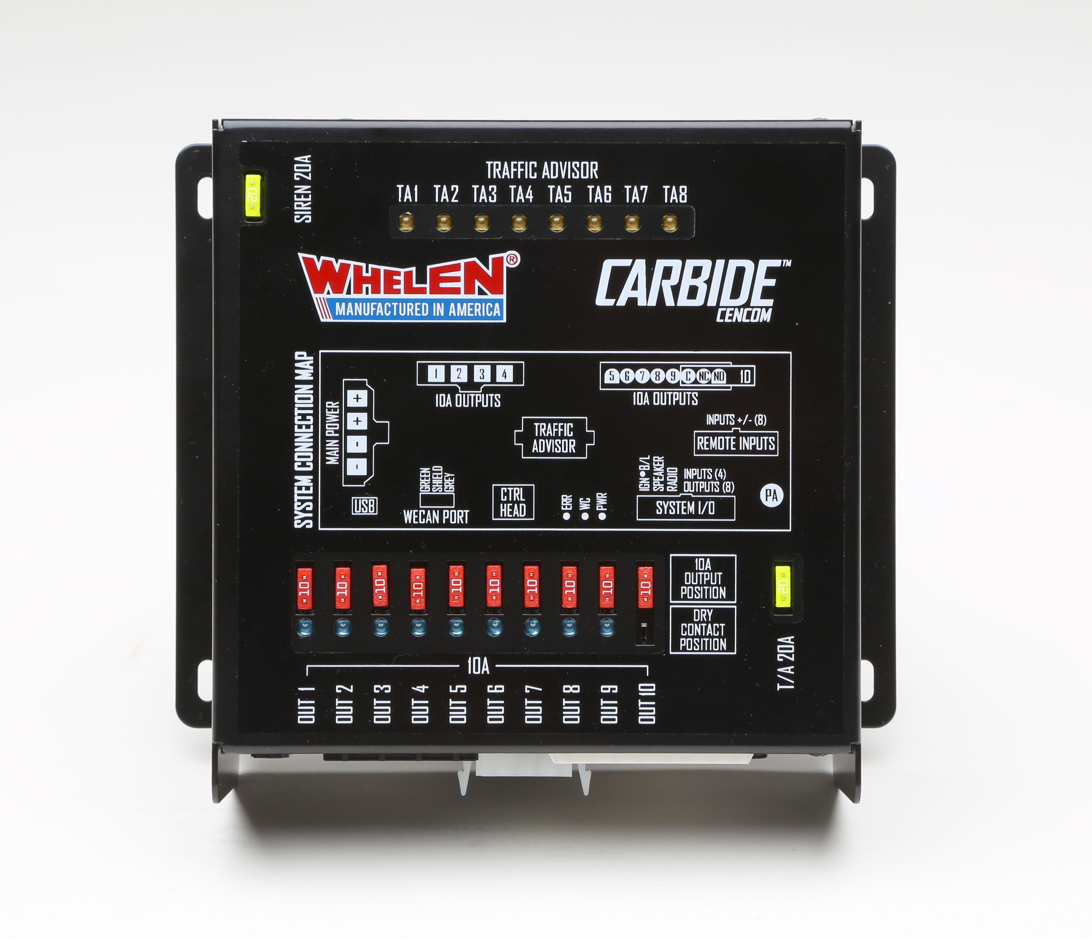 Whelen Cencom Carbide Siren And Light Control Center