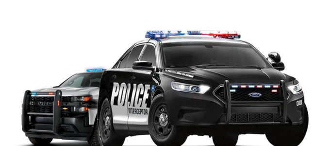 2 upfitted police cars