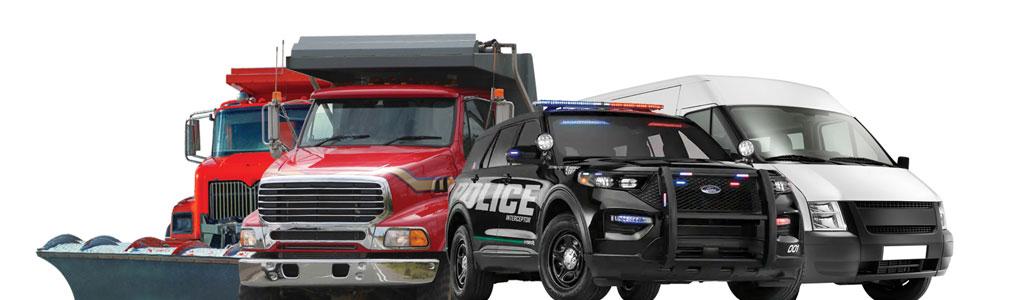 Upfitted emergency vehicles and trucks